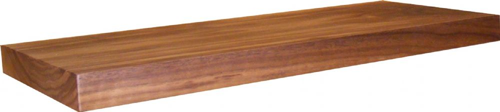 Thick Shelf Solid American Black Walnut Floating Shelf  50Mm Thick